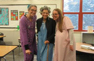 100th Day Fun - Teachers like to dress up too!