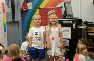 Kindergarten brother and sister twins!